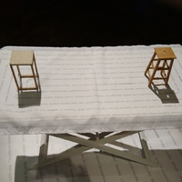 'The Table'...  foldable, butler-tray type with seat models