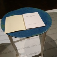 'The Table'...  so delicate porcelain with book
